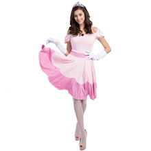 Snow White Dress Women Cosplay Costume Adult Halloween For Carnival Party Suit