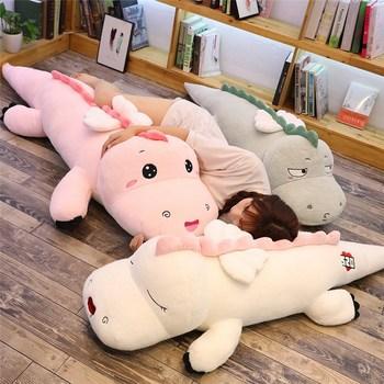 цена на High Quality Big Dinosaur Plush Toy Soft Cartoon Animal Three Colors  with Wing Stuffed Doll Baby Friends Birthday Gift