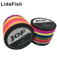 LidaFish 브랜드 4 시리즈 7 색 PE 달리 말 라인 1000m LB 4-150 장력 2-68 kg Biteproof 라인 낚시 라인