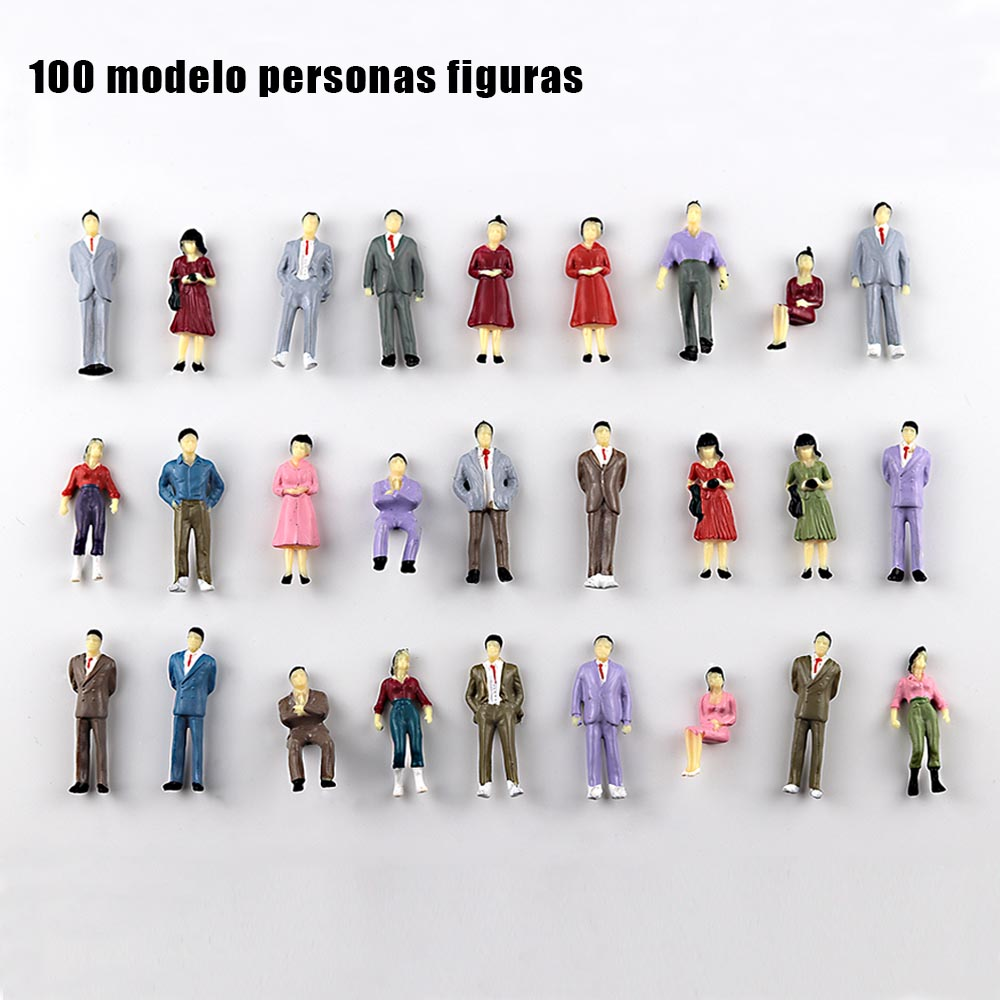 20pcs 1/50 Sale Color Model Figures Toys Miniature Painted Passengers For Diorama Architectural Scene Layout Kits Or Gifts