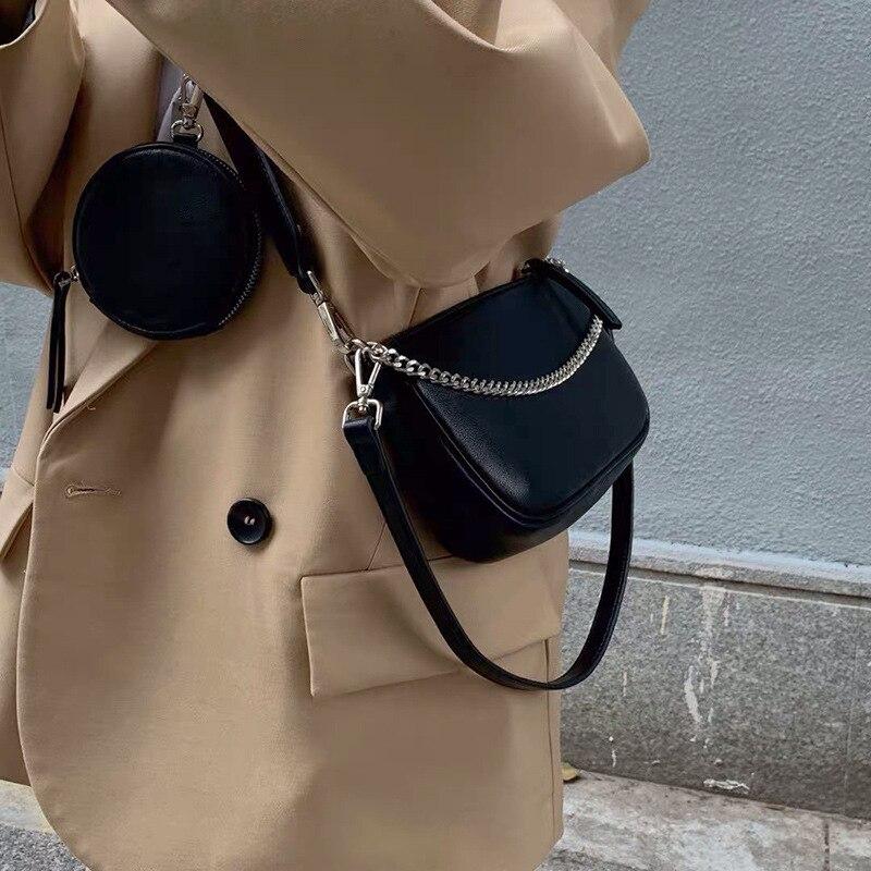 Новая мода Комплект из 2 предметов сумка-мессенджер, женские ретро сумка-мессенджер Crash сумка через плечо из искусственной кожи с отделением...