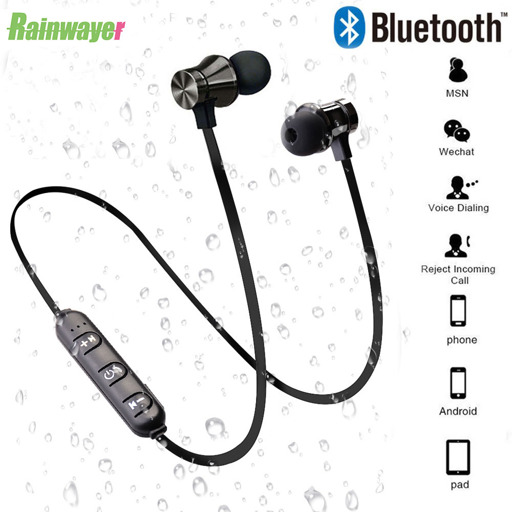 XT11 Wireless Bluetooth Earphone Stereo Sports Earbuds Magnetic Wireless in-ear Headset with Mic Hands-free For IPhone 7 Samsung