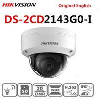 Original hikvison English DS 2CD2143G0 I replace DS 2CD2142FWD I IP67 POE 4MP Dome IR WDR H265 SD card slot Firmware Upgrade