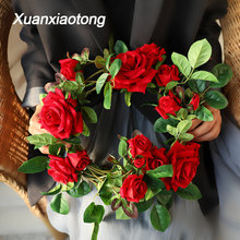 Get more info on the Xuanxiaotong 180cm Rose Flowers Vine Artificial Decor Silk Flowers String With Leaves for Wedding Hanging Garland Decor