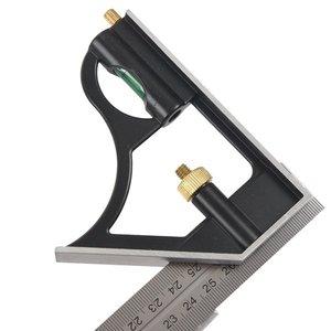 Image 3 - Комбинированный квадратный набор угловой искатель и транспортир спиртовой уровень алюминиевый сплав линейка Mitre