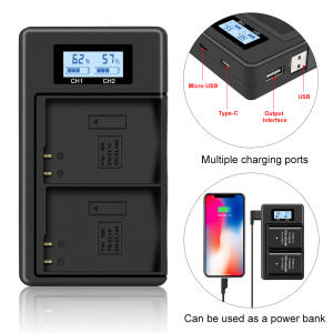 Camera Battery Charger for Nikon en-el14 P7100 P7000 D3100 D5200 D5100 D3200 D3300 D5300 P7000 P7800 MH-24 Lithium Battery MH24