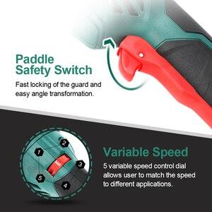 Image 4 - 電気アングルグラインダー 1050 ワット 125 ミリメートルを切断するための可変速度 3000 10500rpm工具不要ガード金属またはストーン