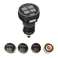 2018 최신 szdalos TP200 무선 tpms 타이어 압력 모니터 시스템 tmps 담배 충전기 외부 센서