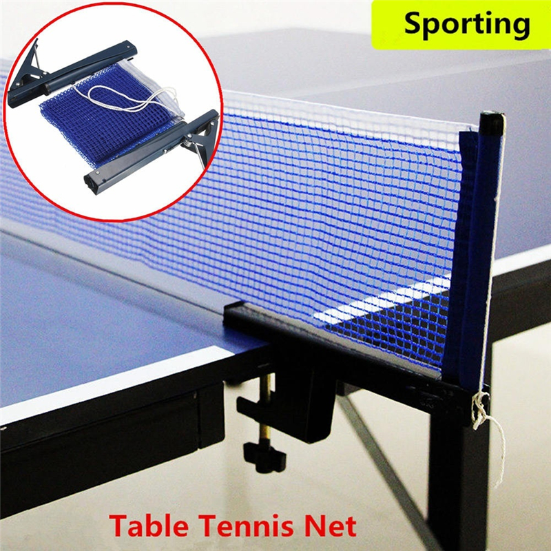 Retractable Indoor Sports Games Ping Pong Clamp Table Tennis Mesh Ping Pong Grid Table Tennis Net Table Net Rack