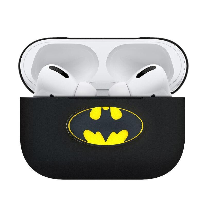 Skinlee Pour Airpods Etui Pro Batman Dessin Anime Silicone Liquide Conception Antichoc Protecteur Couverture Complete Pour Apple Airpods 1 2 Etui Aliexpress
