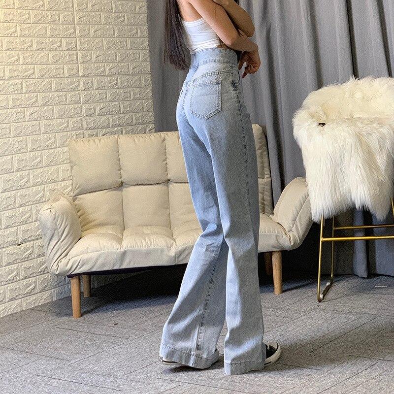 High Waisted Wide Leg Jeans Grey Blue Baggy Jeans Women Denim Fashion Pants Streetwear 2020 New Straight Leg Trousers Korean 280