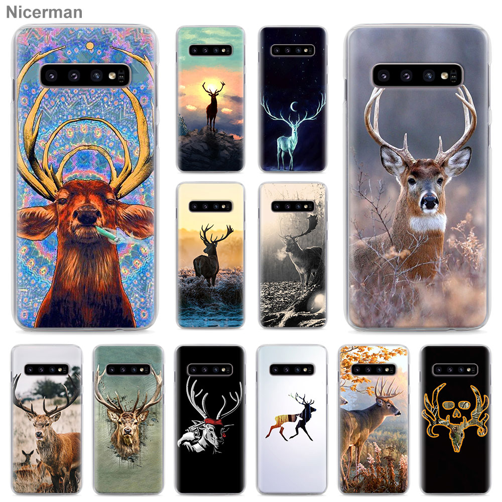 Deer Jagd Camo Telefon Fall für <font><b>Samsung</b></font> <font><b>Galaxy</b></font> S10 S10e <font><b>S8</b></font> S9 <font><b>Plus</b></font> S20 Ultra S7 Rand Hinweis 10 <font><b>Plus</b></font> 8 9 Hard <font><b>Cover</b></font> image