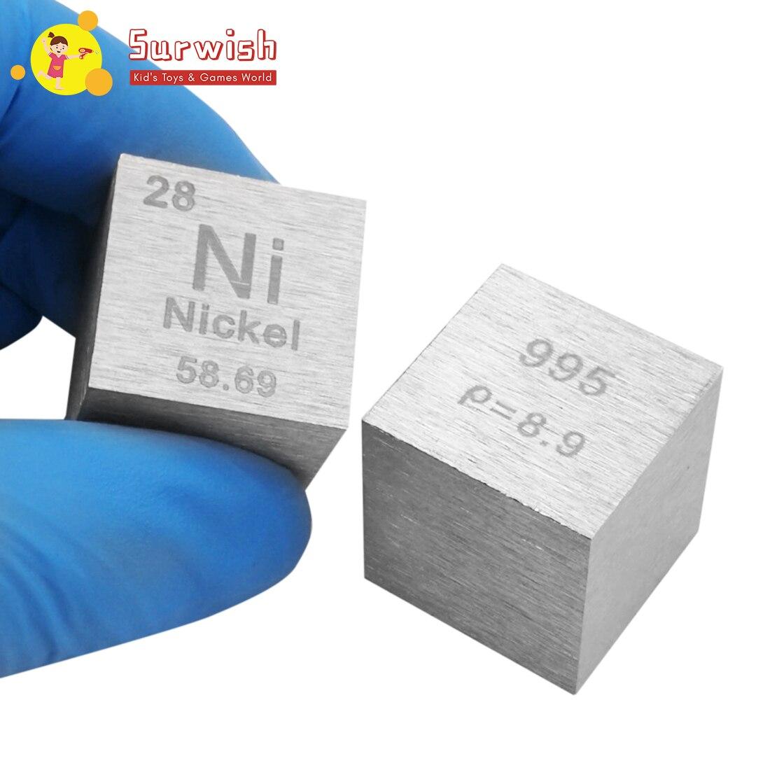 Jouets créatifs pour enfants 25.4X25.4X25.4mm dessin en fil de Nickel Cube Table périodique des éléments Cube (Ni≥99. 5%)