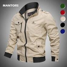 Cazadora militar informal para hombre, chaqueta de abrigo ajustada para otoño e invierno, con cremallera, estilo militar