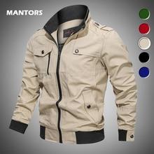 Mens Bomber Jackets Casual Military Jackets Coats Autumn Winter Slim Fit Windbreaker Men Zipper Army Tactical Jacket Outerwear