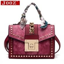 цена на Fashion Women Print Flip Handbag Colorful Serpentine rivet Shoulder Bag Brand Designer Turnlock Scarf Female Messenger Bag