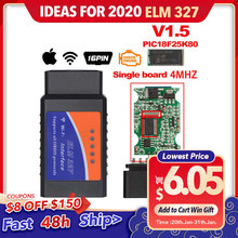 ELM327 V1.5 Bluetooth/Wifi OBD2 スキャナ v1.5 elm 327 Bluetooth PIC18F25K80 自動診断ツール OBDII アンドロイド/IOS /Windows(China)