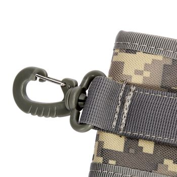 4.5 Inch Molle Bag Tactical Wallet Card Pouch Military Waist Bag Waterproof Card Key Holder With Carabiner For Camping Hunting 5