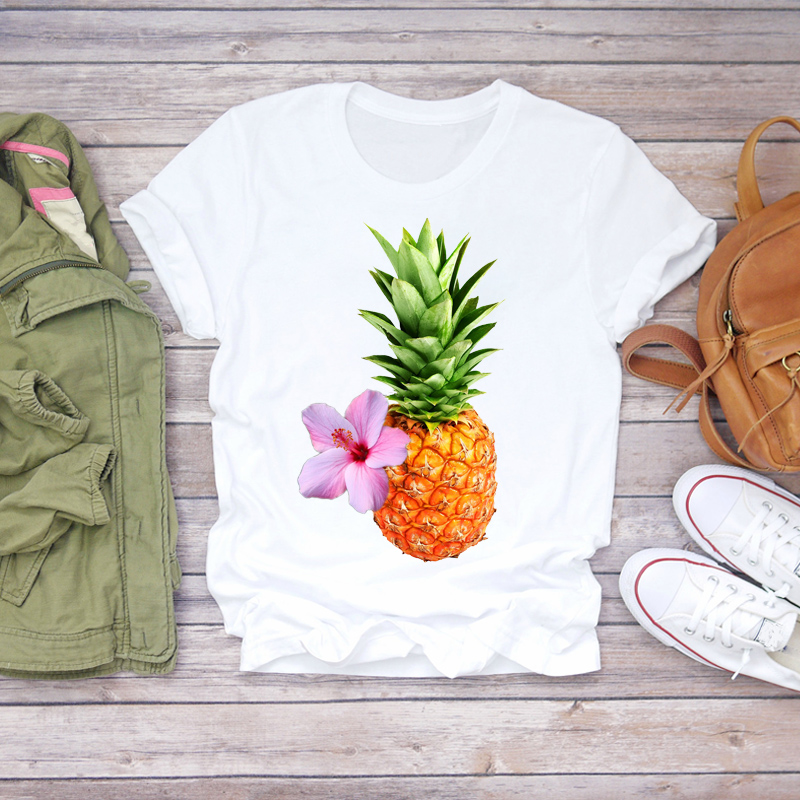 Женская футболка с графическим принтом Пляжная оранжевого цвета