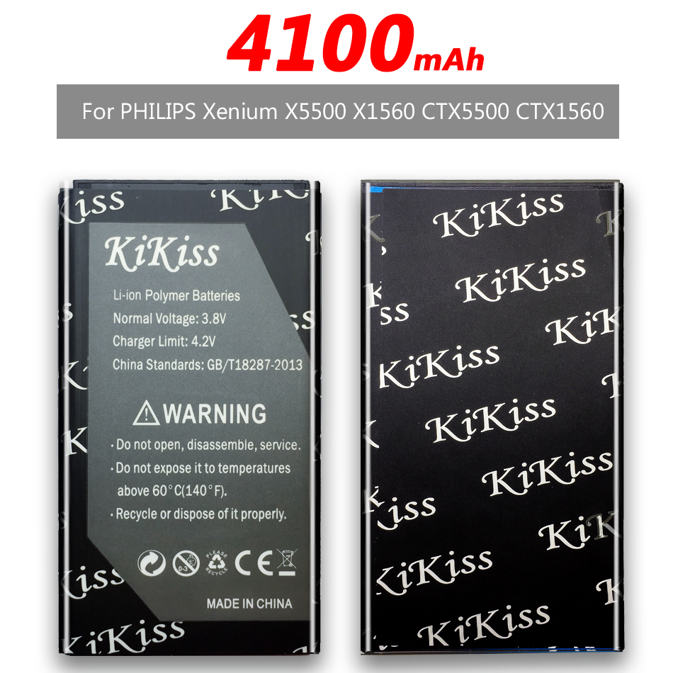 4100mAh For PHILIPS Xenium X1560 X5500 CTX5500 CTX1560 Mobile Phone Battery AB2900AWMC +Tracking Number image