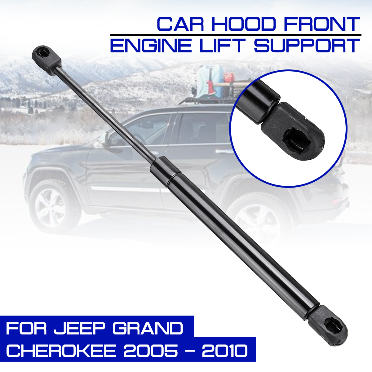 Car Front Engine Cover Hood Shock Lift Struts For Jeep Grand Cherokee 2005-2010 Bar Support Props Rod Arm Gas Spring Bracket