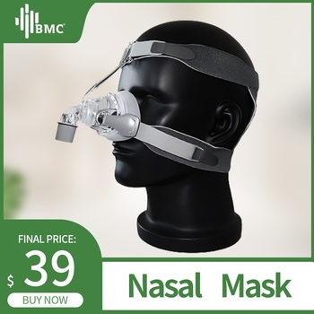 BMC NM4 maska nosowa CPAP maska z nakryciem głowy i SML 3 rozmiar poduszka silikonowa dla CPAP Auto CPAP sen chrapanie bezdech zdrowie i uroda tanie i dobre opinie NM4 Nasal Mask BMC Medical Co Ltd CPAP Sleep Mask CE FDA ISO White And Lucency 3 Months Assurance Snoring Sleep Apnea