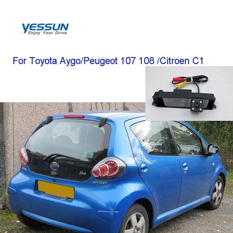 Yessun Rear Camera For Toyota Aygo/Peugeot 107 2005~2014 108  2014~2019/Citroen C1 Reverse License Plate Backup Camera