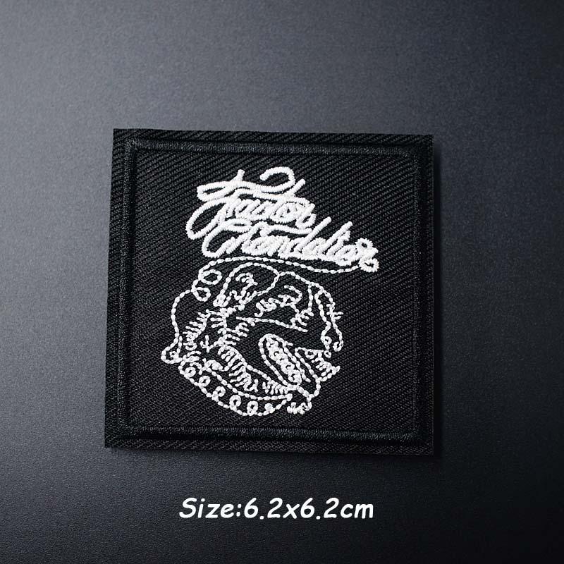 Черно-белая ткань для экспрессии Mend украшает утюжок на патч одежда шитье украшения аппликация вышивать на пачках для одежды - Цвет: AC