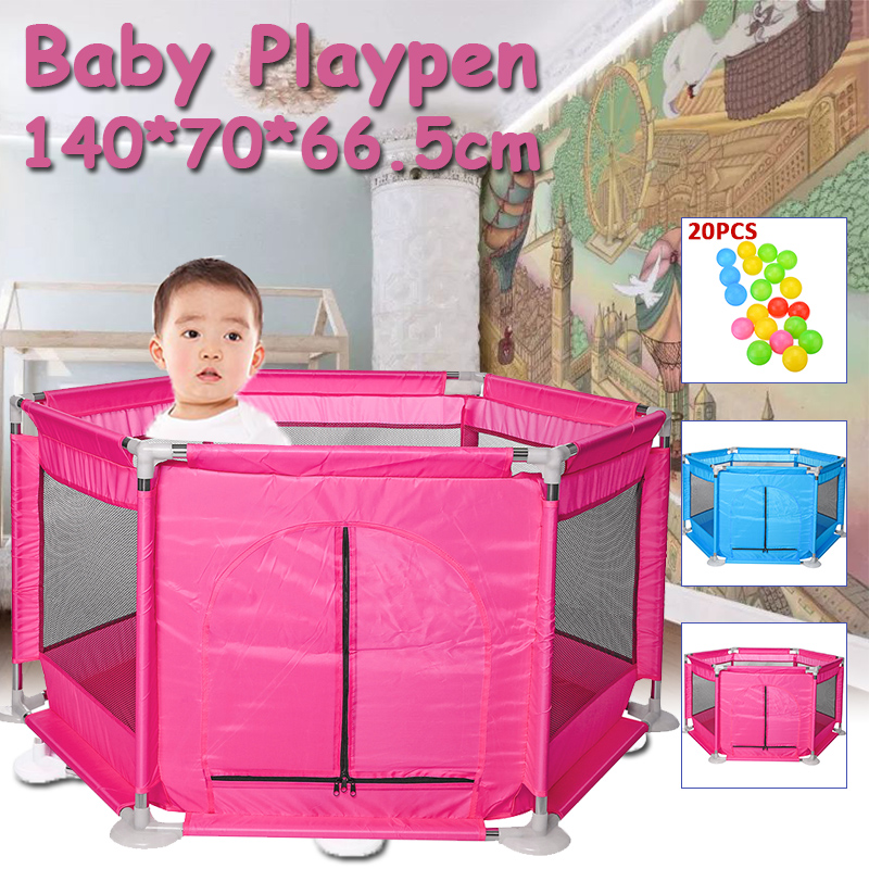Baby Playpen For Children Kids Baby Pool Fence Tent Colorful Ball Pool Folding Guard Protection Safety Corral Piscine A Balle