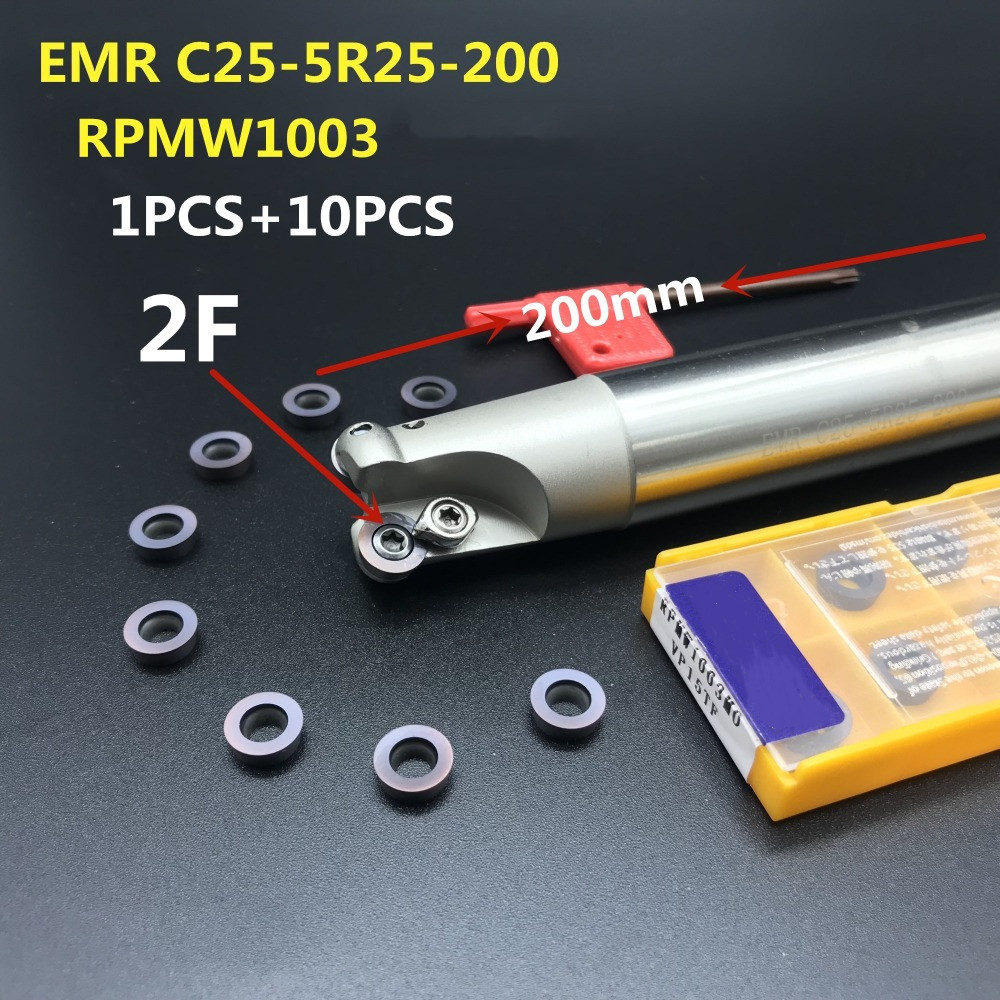 1pcs NEW EMRW C12-4R-12-130 1T Round Indexable End Mill Holder 10PCS RPMT0802MO