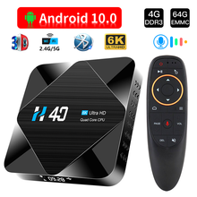 tv box Android 10 2.4G 5GHz Wifi Bluetooth 4GB 32GB 64GB 6K 3D 1080P media player YouTube Android TV Box Set top box(China)