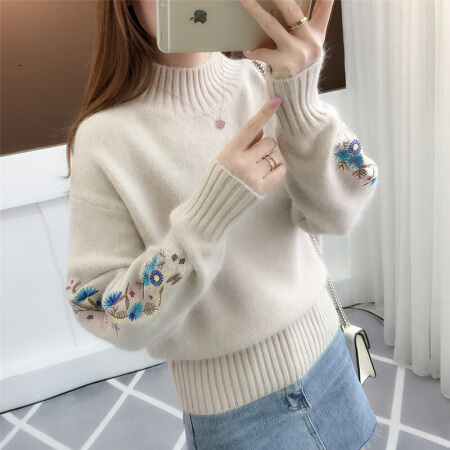 Sweater Woman Pullover Clean-Cargo Knitting Lead Easy-Light Unlined-Upper-Garment Coffee-Color