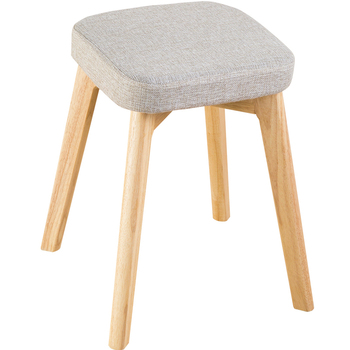 Solid wood dining stool Nordic chair solid wood stool leisure chair dining chair modern minimalist home stool