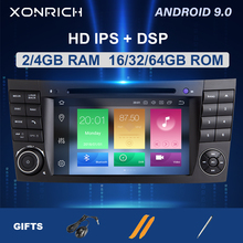 DSP 2 din Android 9 DVD Multimedia para Mercedes Benz Clase E W211 E200 E220 E300E350 E240E280 CLS clase W219 GPS Radio de Audio