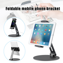 New Tablet Holder Aluminum Alloy Phone Bracket Foldable 360 Swivel for iPad iPhone OD889