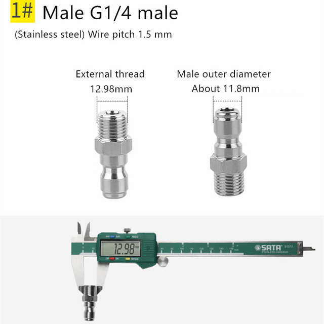 медный быстроразъемный соединитель высокого давления 1/4 дюйма фотография