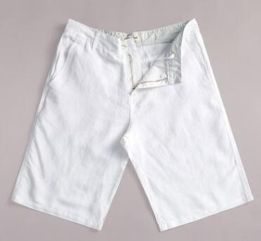 Linen Shorts Casual-Pants Men's Straight Cotton Summer Pure-Color And of Autumn Thin