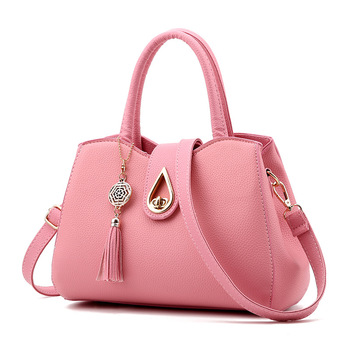 цена на Luxury Handbags New Fashion Solid Color Totes PU Leather Shoulder Bag For Women Ladies Designer Messenger Bag Bolsa Feminina