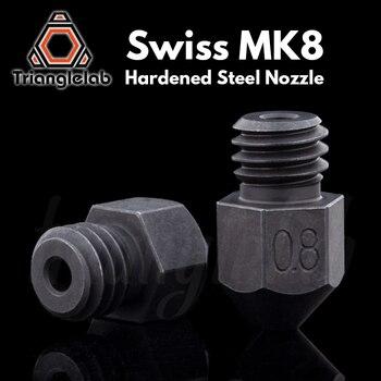 Trianglelab Swiss MK8 насадка из закаленной стали с высокой температурой m6 резьба 1,75 мм нить для 3D принтеров hotend cr10 ender3 и т. Д.