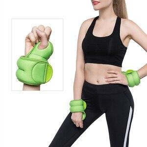 1 paire 1kg marche marche main poignet poids sac de sable fer sable Invisible Fitness boxe équipement d'entraînement