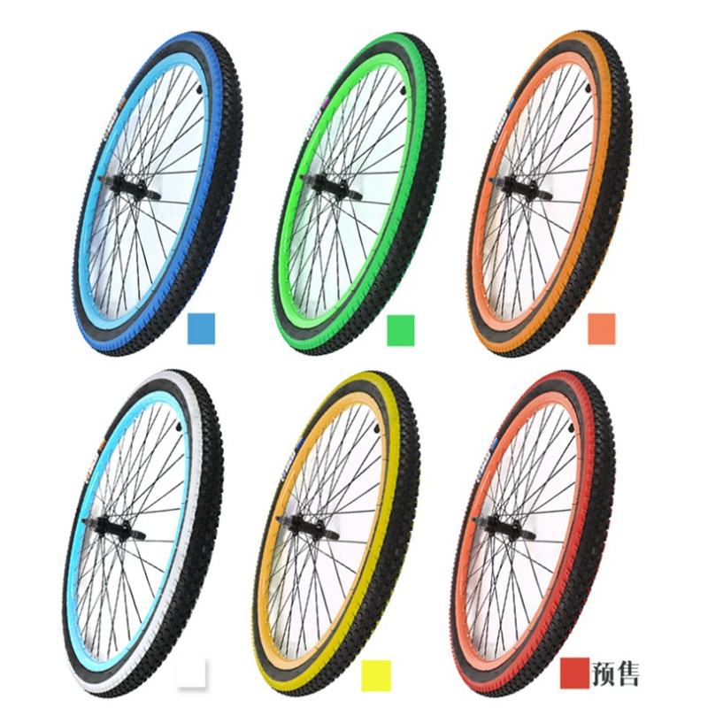 Color 26 Inch 26*1.95 Tire 26x2.125 Universal Mountain Bike Tire Inner Tube 26X1.95 Bicycle Tire