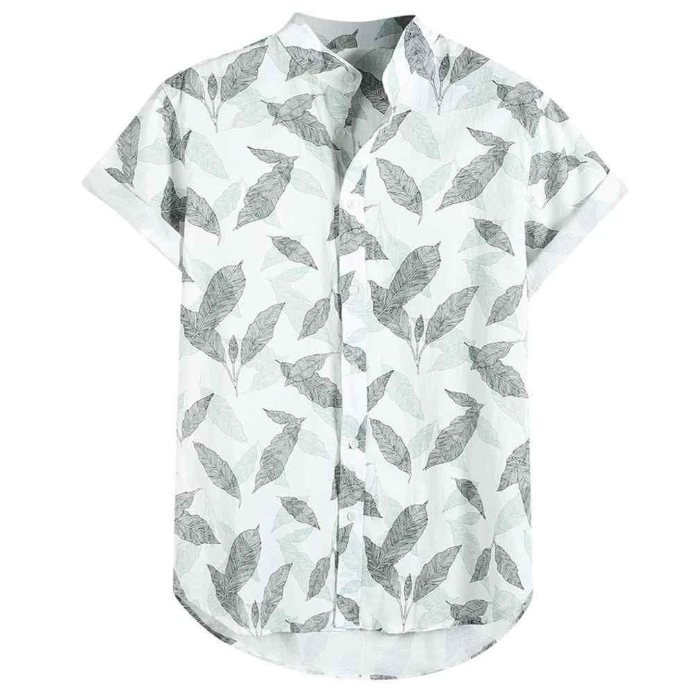 男性ファンシートップス半袖 2 ティーシャツアロハシャツカジュアルルーズシャツビーチ花のパーティーの夏ホリデー