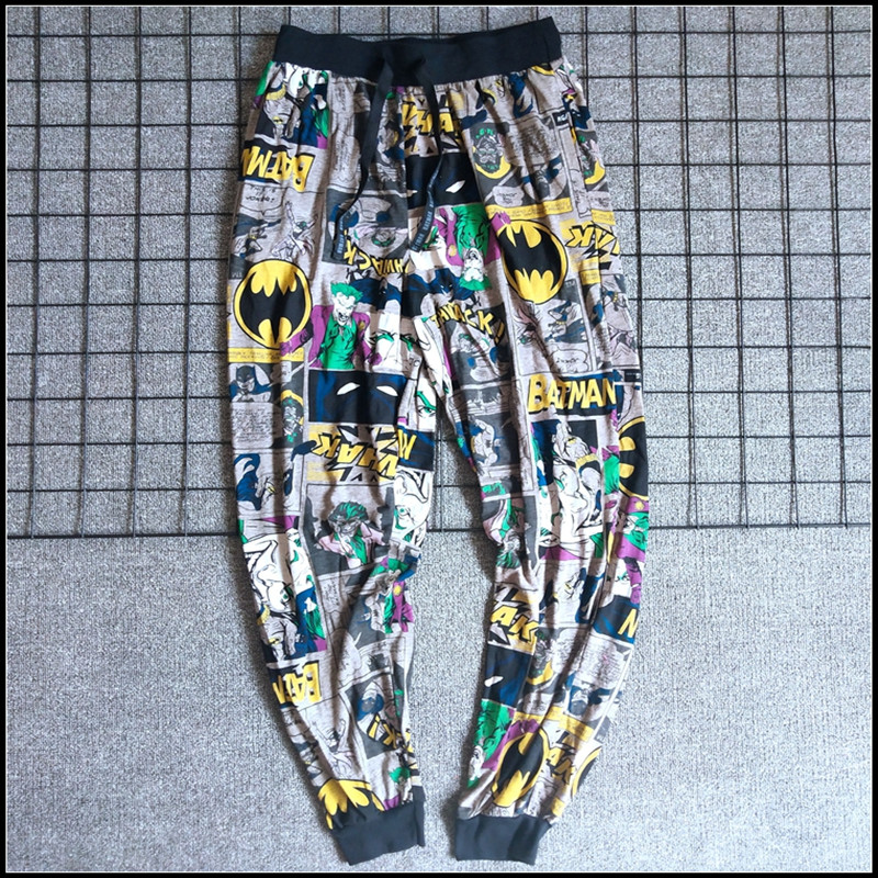 Men's Pants Long Pants Casual Home Pants Comic Trousers Sleep Bottoms