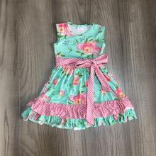 baby girls clothes girls summer floral dress with belt girls