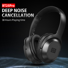 Langsdom BT25Pro Active Noise Canceling Headphones Wireless Bluetooth 38 Hours Play ANC Gaming Headset for PUBG Overwatch