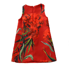 Bongawan/платье с цветочным узором для девочек хлопковая летняя детская одежда трапециевидной формы От 5 до 14 лет платье принцессы для дня рождения