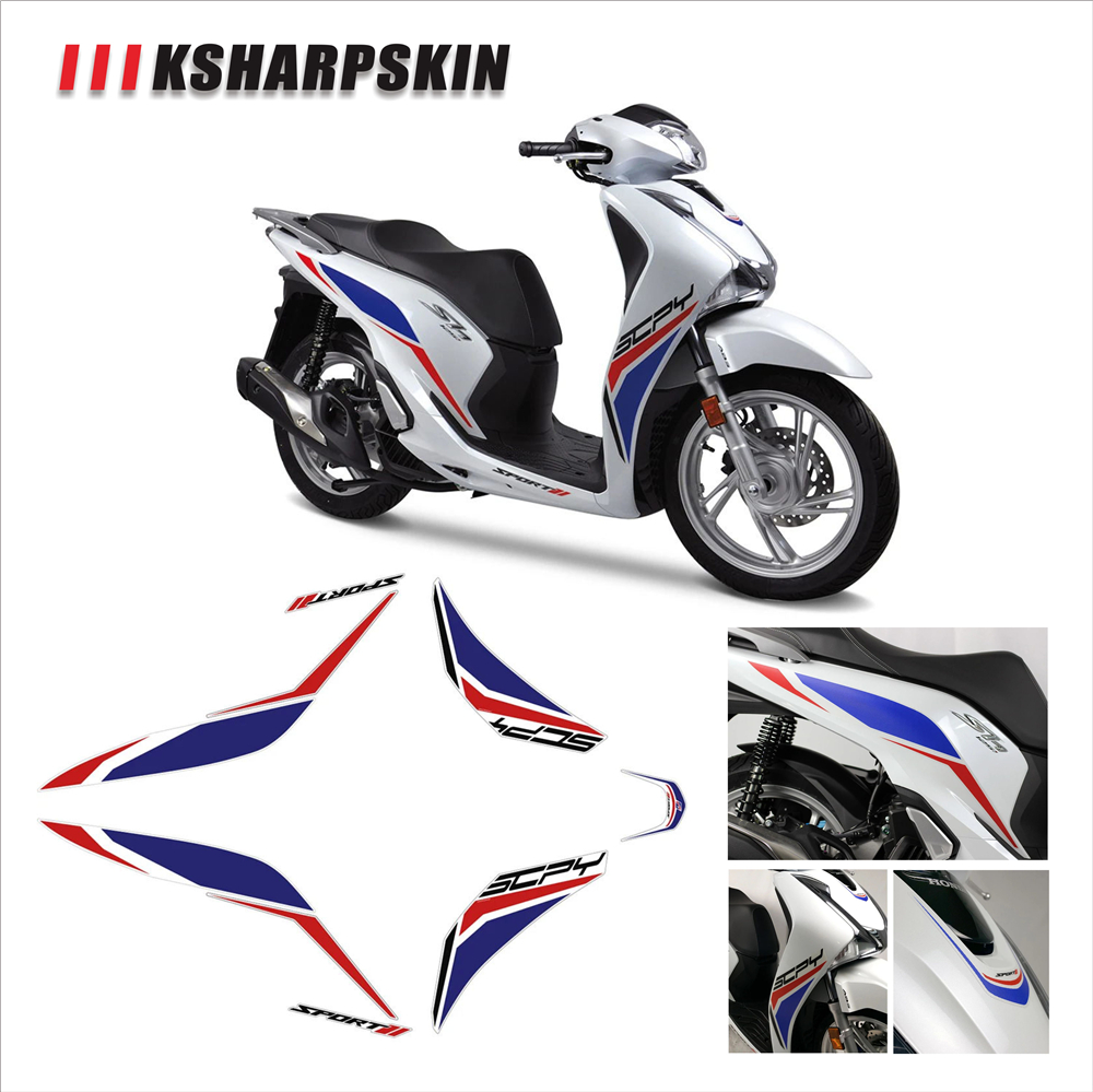 Front body waterproof decal motorcycle fairing sticker KSHARPSKIN packaging super sticky kit for <font><b>honda</b></font> <font><b>SH125</b></font> SH 125 image