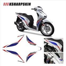 Front body waterproof decal motorcycle fairing sticker KSHARPSKIN packaging super sticky kit for honda SH125 SH 125