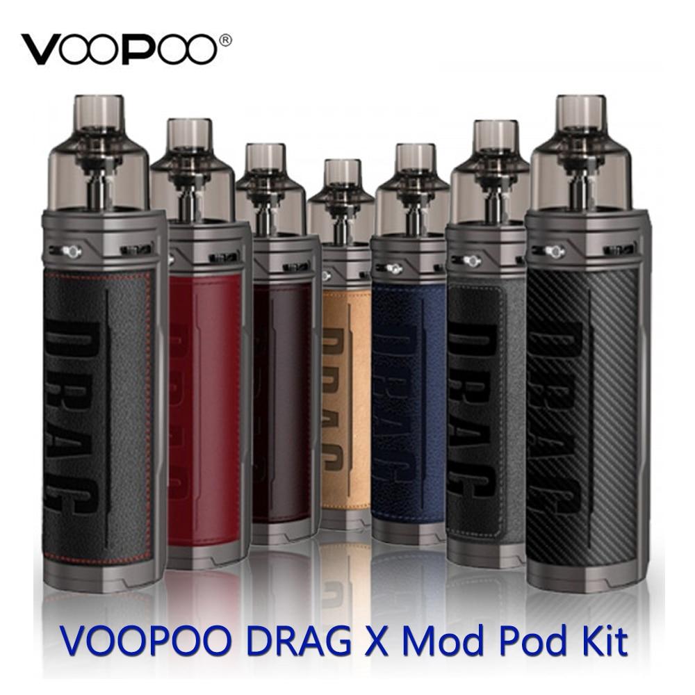 VOOPOO Drag X Mod Pod Vape Kit With TFT Color Screen&GENE.TT Chip By Single 18650 Battery E-cig Vape Kit Vs Vinci X/Aegis Boost