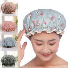 Hats Shower Hair-Cover Bathing-Cap Bathroom-Products Waterproof Cartoon Cotton 1pcs Polyester